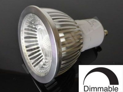 Ampoule LED GU10 - 5W - Corps Aluminium - Dimmable - Blanc chaud