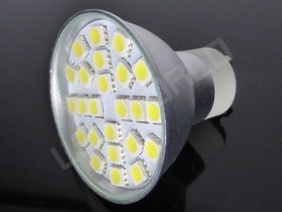 Ampoule LED GU10 - 24 leds - Blanc naturel