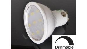 Ampoule LED GU10 - 9 leds - Dimmable - Blanc chaud