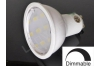 Ampoule LED GU10 - 9 leds - Dimmable - Blanc chaud