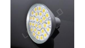 Ampoule LED MR16 - 27 leds - Dimmable - Blanc chaud