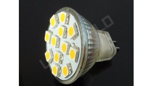Ampoule LED MR11 - 12 leds - Blanc naturel