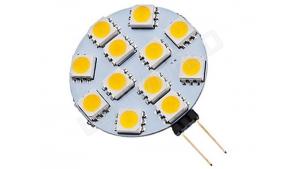 Ampoule LED G4 - 12 leds - Blanc chaud