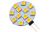 Ampoule LED G4 - 12 leds - Blanc chaud -12v