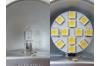 Ampoule LED G4 - 12 leds - Blanc chaud -12v