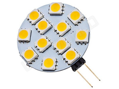 Ampoule LED G4 - 12 leds - Blanc naturel - 12v