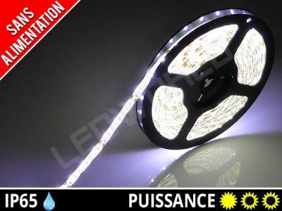 Ruban LED 3528 - Etanche IP65 - 12v - Blanc pur
