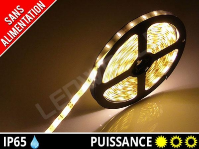 Ruban LED 3528 - Etanche IP65 - 12v - Blanc chaud