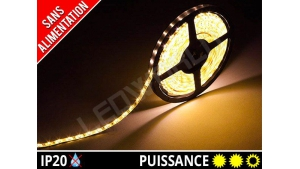 Ruban LED 2835 - 60 leds / m - 12v - Blanc Chaud 3000K