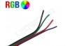 Câble électrique plat RGB 4 couleurs 24G
