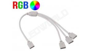 Connecteur triple pour ruban RGB