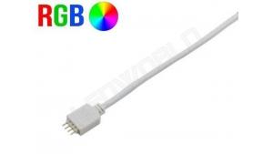 Connecteur ruban led RGB avec câble - Prise mâle