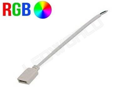 Connecteur ruban led RGB avec câble - Prise femelle