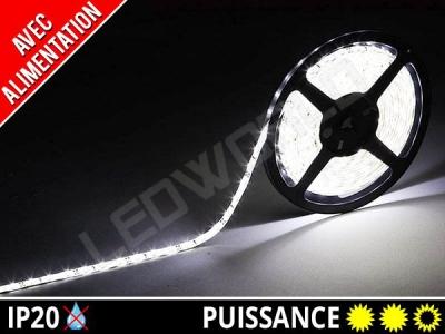 Pack Ruban LED 2835 avec alimentation - 12v - Blanc pur