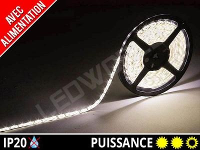 Pack Ruban LED 2835 avec alimentation - 12v - Blanc naturel