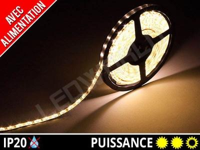 Pack Ruban LED 2835 avec alimentation - 12v - Blanc chaud