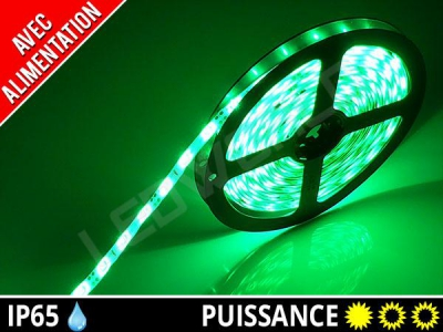 Pack ruban LED 3528 + alimentation - Vert