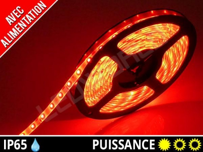 Pack ruban LED 3528 + alimentation - Rouge