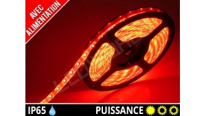 Pack Ruban LED 3528 avec alimentation - Etanche IP65 - 12v - Rouge