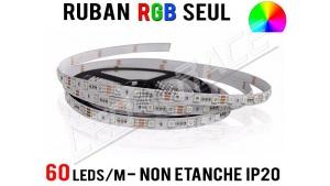 Ruban LED RGB - 60 leds/m - 12v - non étanche