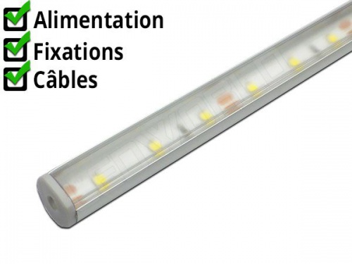 Réglette LED orientable cuisine plan de travail ikea R13 - Aluminium