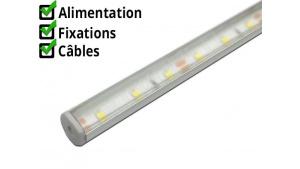 Réglette LED orientable - R13 - Aluminium + Alimentation 12V