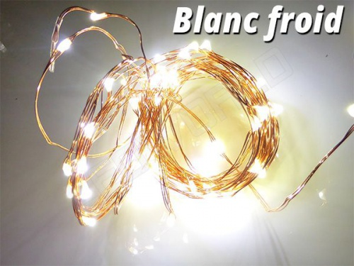 Guirlande LED en cuivre 5m 50 lucioles avec alimentation
