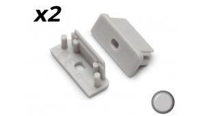 Bouchon Embout de terminaison pour profilé aluminium 208 - Gris