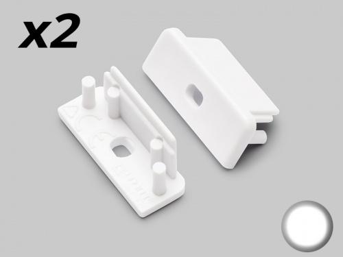 Bouchon Embout de terminaison pour profilé aluminium - blanc