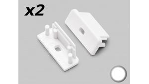 Bouchon Embout de terminaison pour profilé aluminium 208 - Blanc