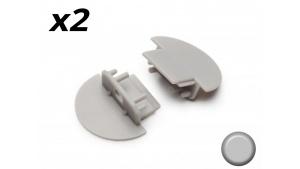Bouchon Embout de terminaison pour profilé aluminium encastrable 247 - Gris