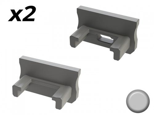 Bouchon Embout de terminaison pour profilé aluminium 169 - Gris