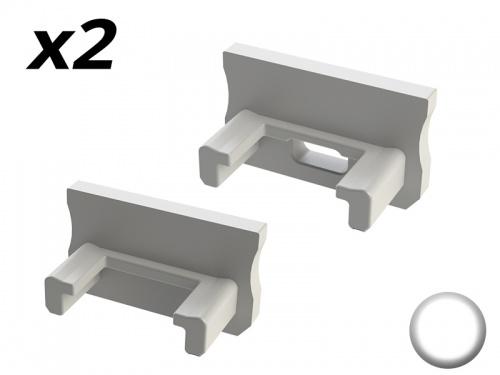 Bouchon Embout de terminaison pour profilé aluminium 169 - Blanc