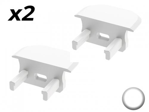 Bouchon Embout de terminaison pour profilé aluminium encastrable 219 - Blanc