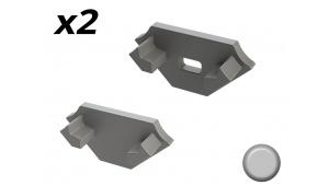 Bouchon Embout de terminaison pour profilé aluminium 45° 1616 - Gris