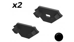 Bouchon Embout de terminaison pour profilé aluminium 45° 1616 - Noir