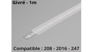 Diffuseur pour profilé aluminium 208-247-2016 - Givré - 1m