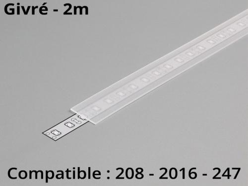 Diffuseur pour profilé aluminium 208-247-2016 - givré 2m