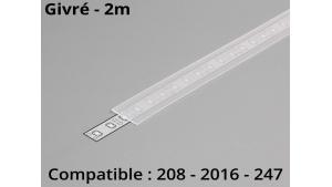 Diffuseur pour profilé aluminium 208-247-2016 - Givré - 2m