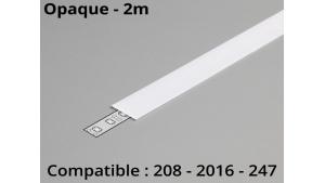 Diffuseur pour profilé aluminium 208-247-2016 - Opaque - 2m