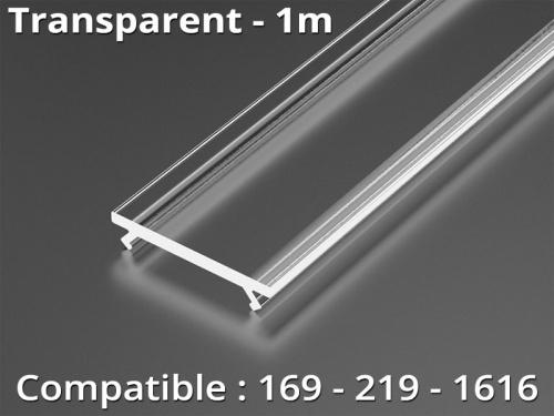 Diffuseur pour profilé aluminium 169-219-1616 - Transparent - 1m