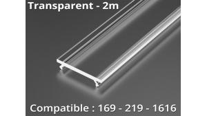 Diffuseur pour profilé aluminium 169-219-1616 - Transparent - 2m