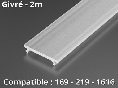 Diffuseur pour profilé aluminium 169-219-1616 - givré - 1m
