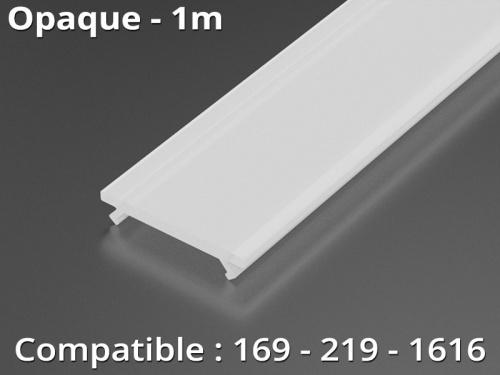 Diffuseur pour profilé aluminium 169-219-1616 - Opaque - 1m