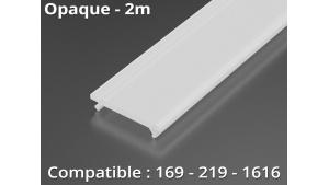 Diffuseur pour profilé aluminium 169-219-1616 - Opaque - 2m