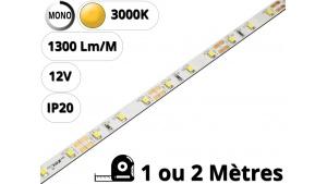 Ruban Bande led pour profilé aluminium-Blanc chaud 3000K-12V