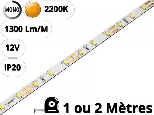 Ruban Bande led pour profilé aluminium-Blanc extra chaud 2200K-12V