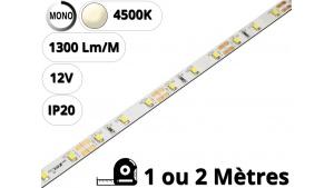 Ruban Bande led pour profilé aluminium-Blanc naturel 4500K-12V