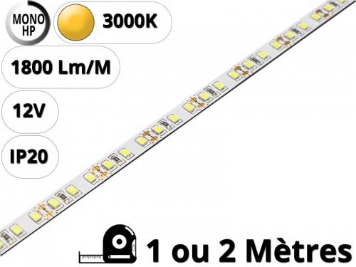 Ruban Bande led haute puissance pour profilé aluminium-Blanc chaud 3000K-12V