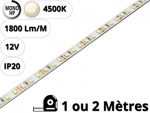 Ruban Bande led haute puissance pour profilé aluminium-Blanc naturel 4500K-12V